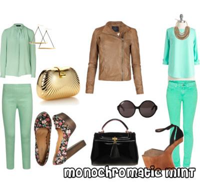 monochromatic series: mint