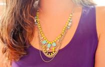 DIY: Neon Crystal Necklace