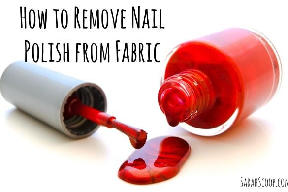 Remove Nail Polish from Fabric