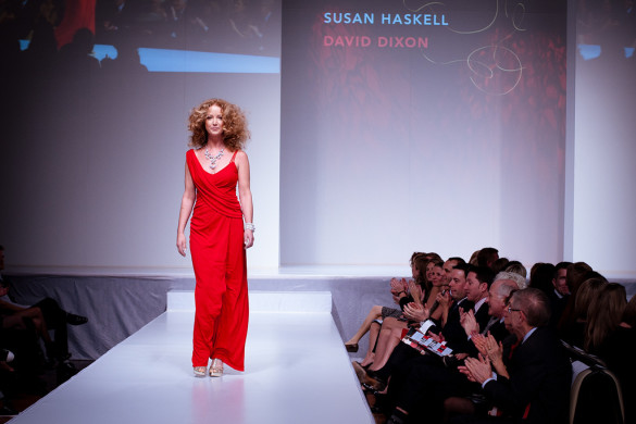 Susan Haskell wearing David Dixon - Heart and Stroke Foundation - The Heart Truth celebrity fashion show - Red Dress - Red Gown - Thursday February 8, 2012 - Creative Commons