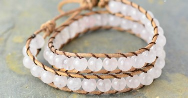 Soft Pink Hemp Wrap Bracelet