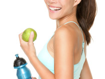 Fitness woman happy smiling