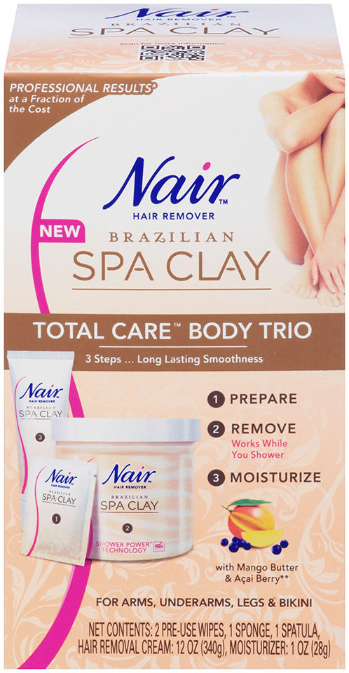 Nair Brazilian Spa Clay Hair Removal Depilatory Smooth Summer