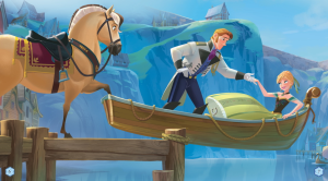 Frozen-Hans-and-Anna-in-Boat-Wallpaper