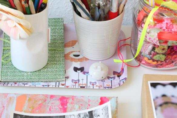 craft room storage as display