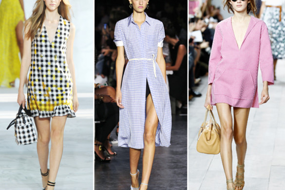 Gingham graced many runway shows this Fashion Week