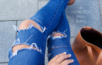 DIY : Distressed Boyfriend Jeans
