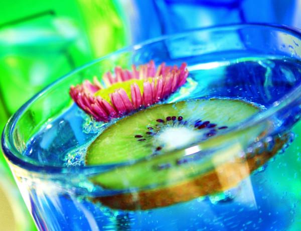 Fabulous Blue Kiwi Drink and Flower