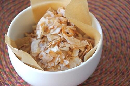 Cinnamon-Sugar Coconut Crisps