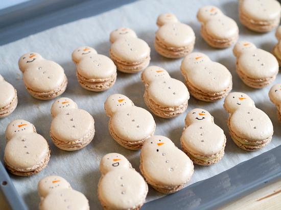 Snowmen Macaron