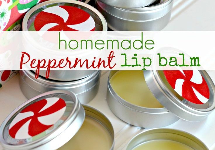DIY lip balm holiday gift