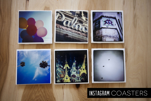 DIY instagram coasters holiday gift