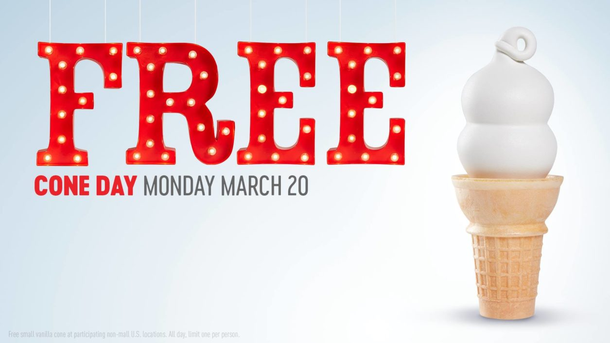 Get your famously flippable Blizzard ® treat served upside down or the next one's free. At participating locations. Limit one per person. Only one Blizzard ® Treat is flipped in the drive-thru and on multiple orders. Must be claimed at the time of purchase.