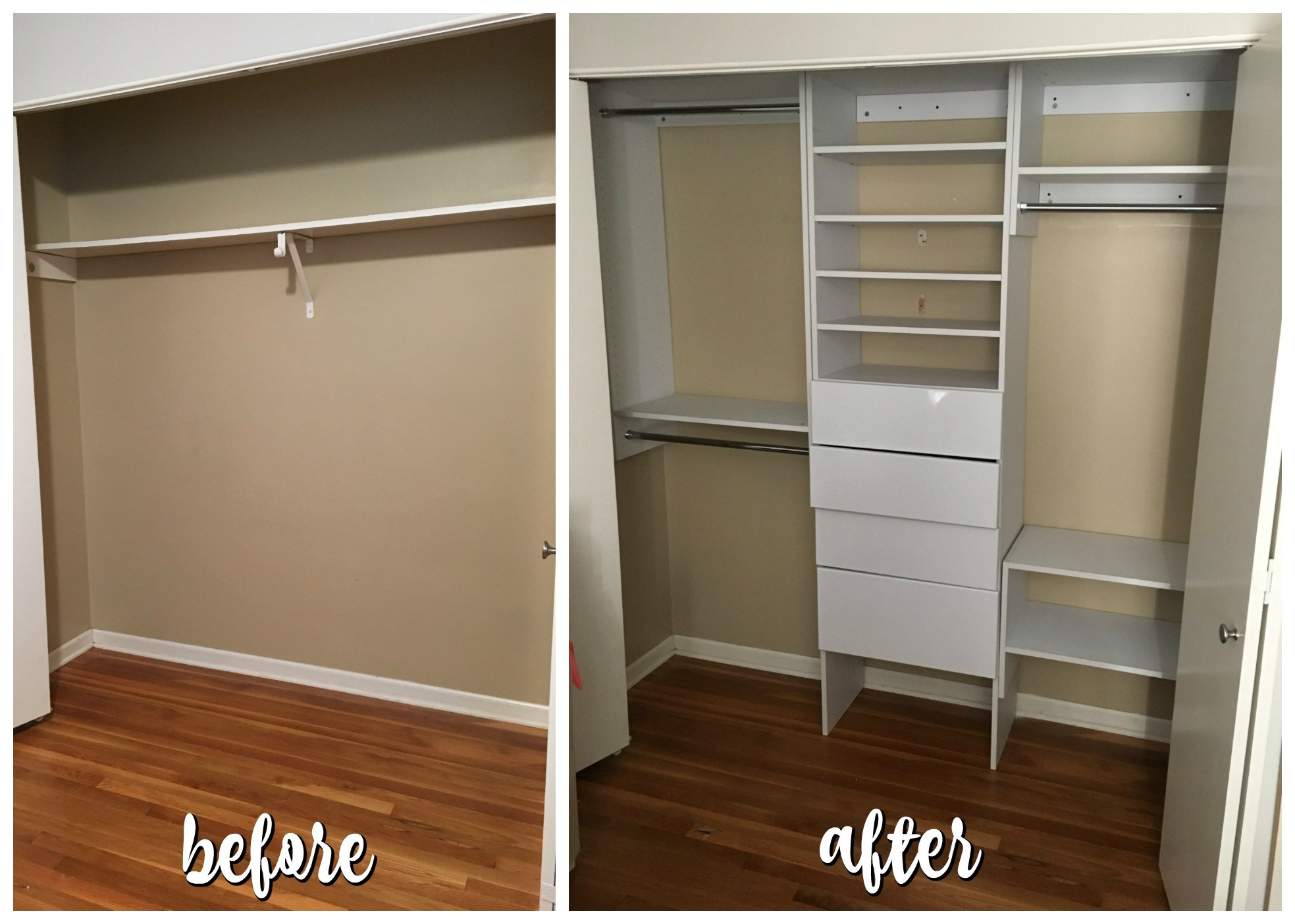 Attirant With The Installation Of My Modular Closet, It Went From Boring And Simple  To Chic And Useful.