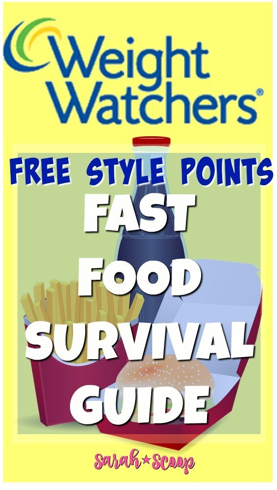 Fast Food Guide For Weight Watchers User Guide Manual That Easy To