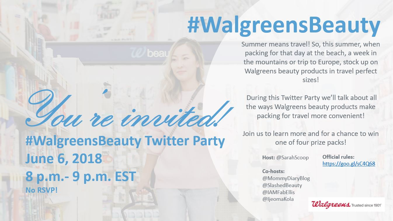 Join @SarahScoop TOMORROW For the @Walgreens #WalgreensBeauty ...