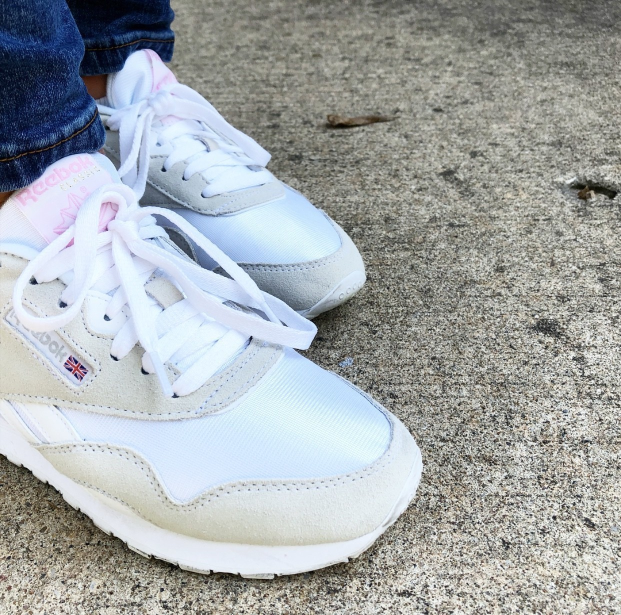1acc7a560c9 The best thing about the Reebok Classics  They are surprisingly easy to keep  clean! Keeping a white shoe white can be difficult