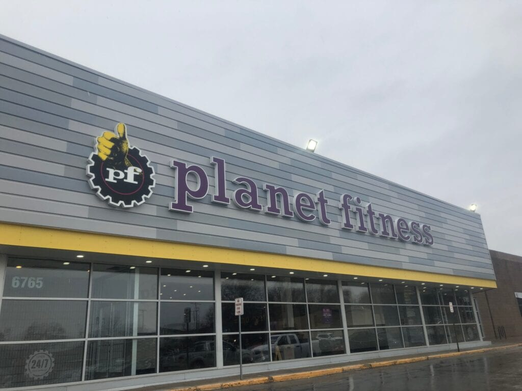 Outside of Planet Fitness