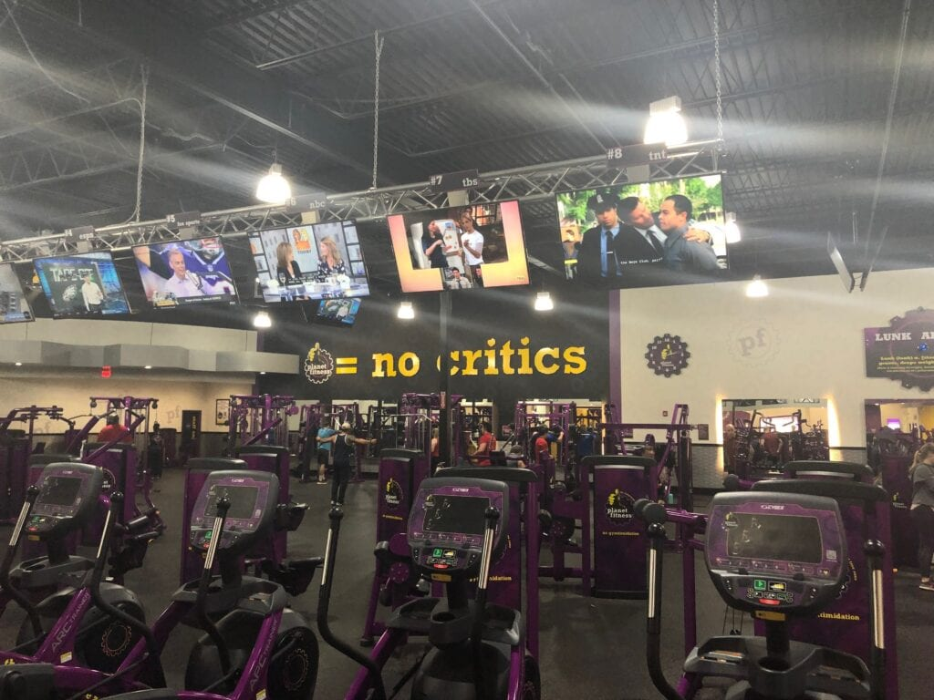 Purple gym equipment