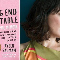 ayser slman headshot and book