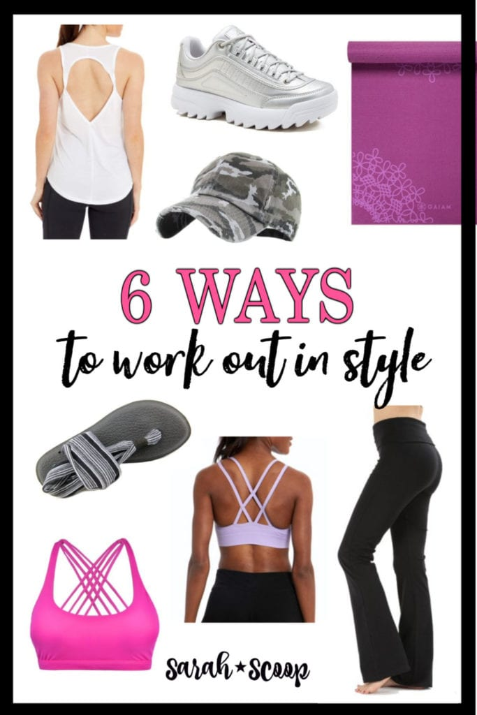 examples of ways to style workout clothes