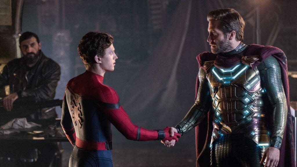 Mysterio and Spider-Man officially meeting