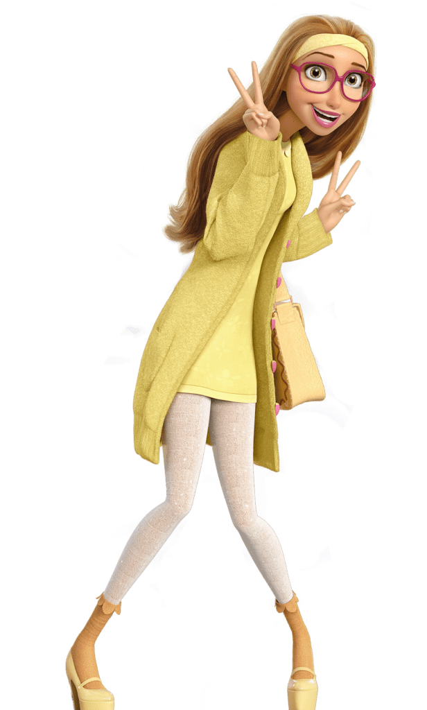 Honey Lemon from Big Hero 6 wearing yellow and white