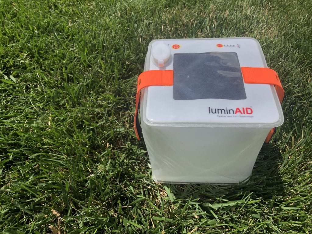 Supercharger cube in grass