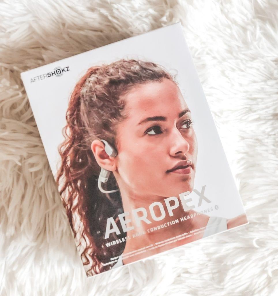 Box of AfterShokz headphones