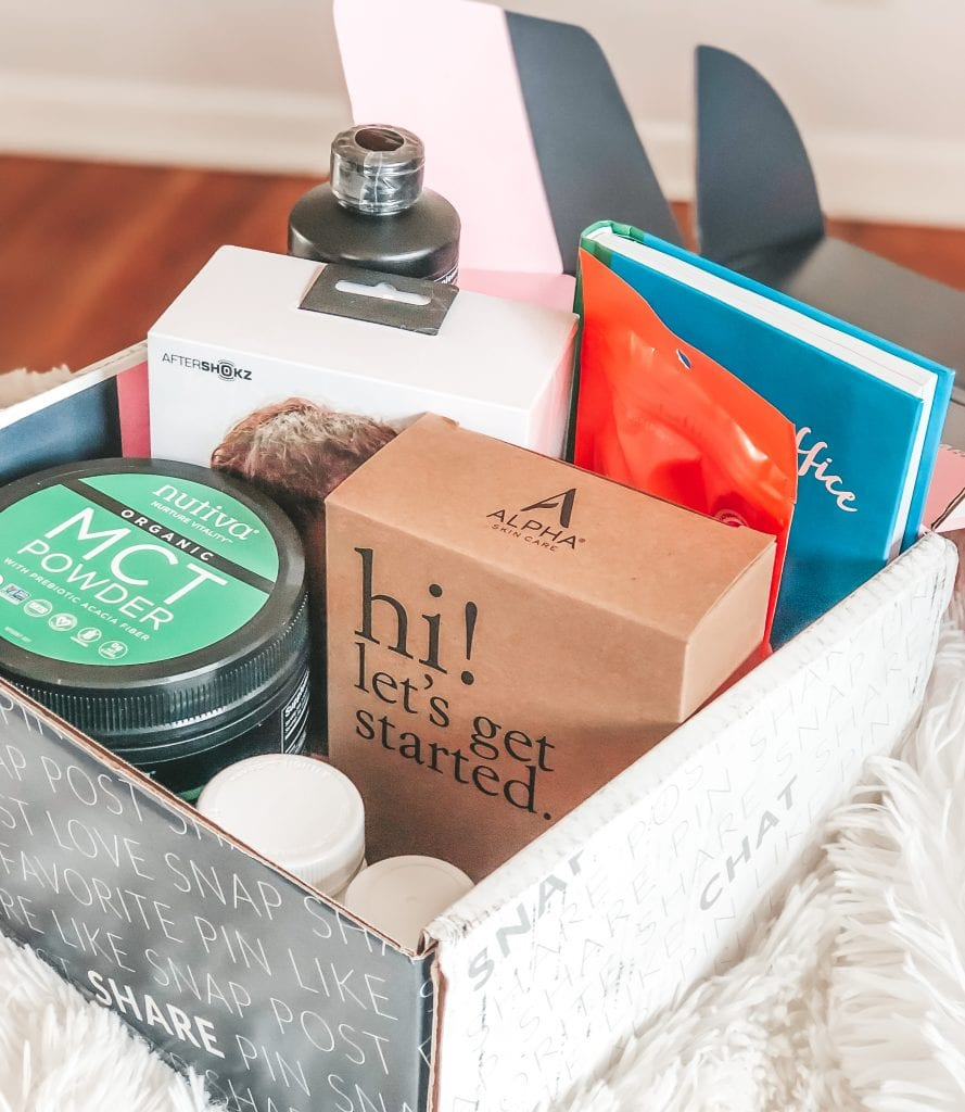 Box of products to inspire you to keep your New Years resolutions
