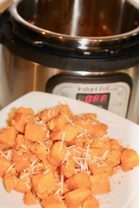 "Alt="" Air Fryer Garlic Parmesan Sweet Potato Recipe"""