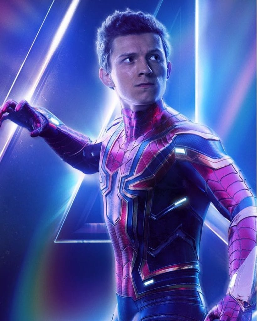 Spiderman from Avengers: Infinity War
