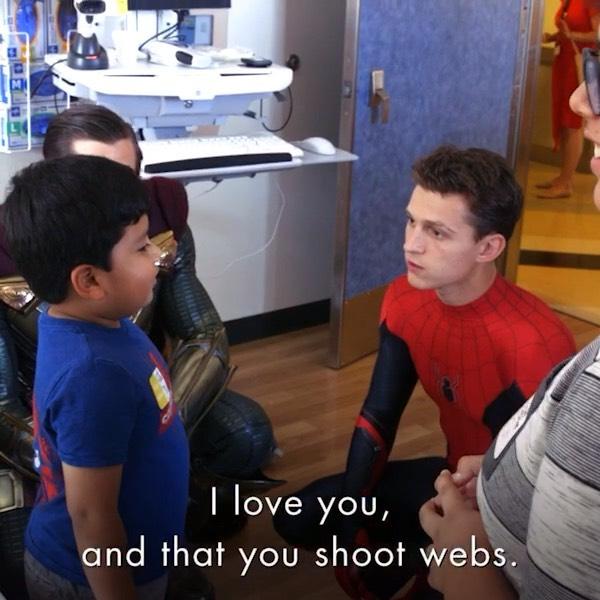 Spiderman at children's hospital