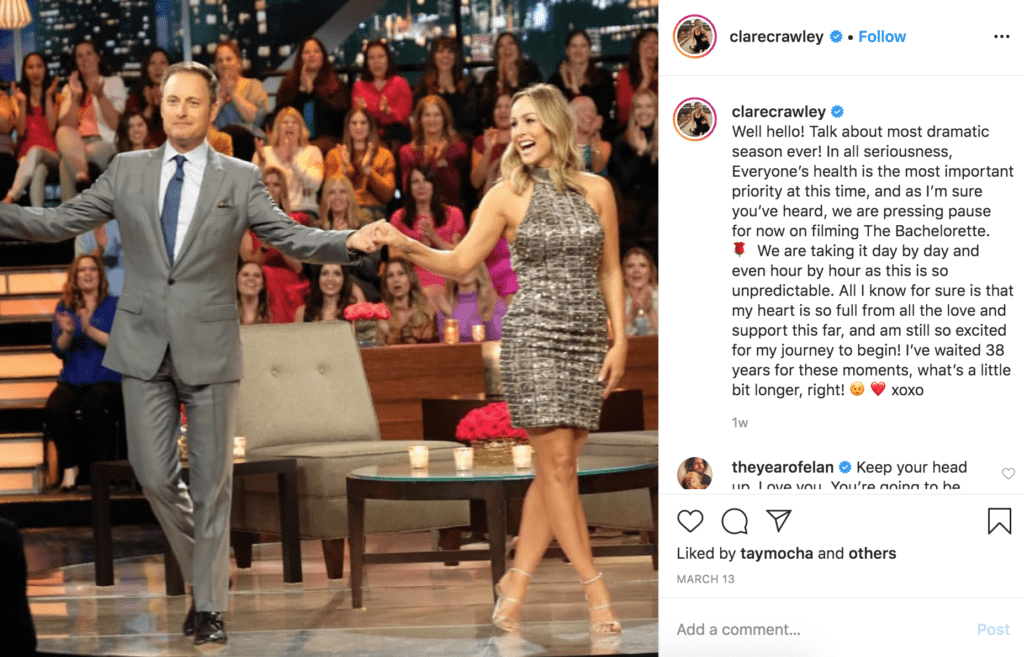 Instagram Post with Chris Harrison