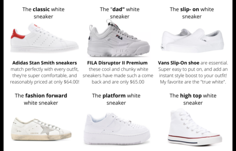 Style Guide: White Sneakers