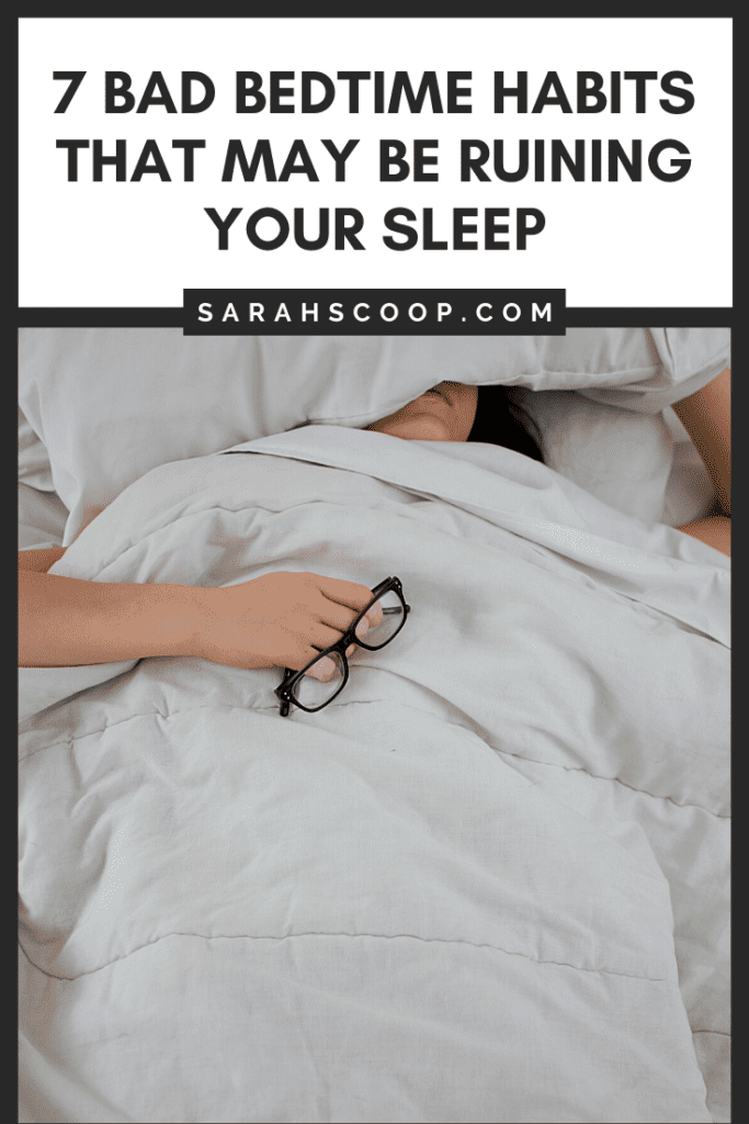 Pinterest image: 7 bad bedtime habits ruining your sleep