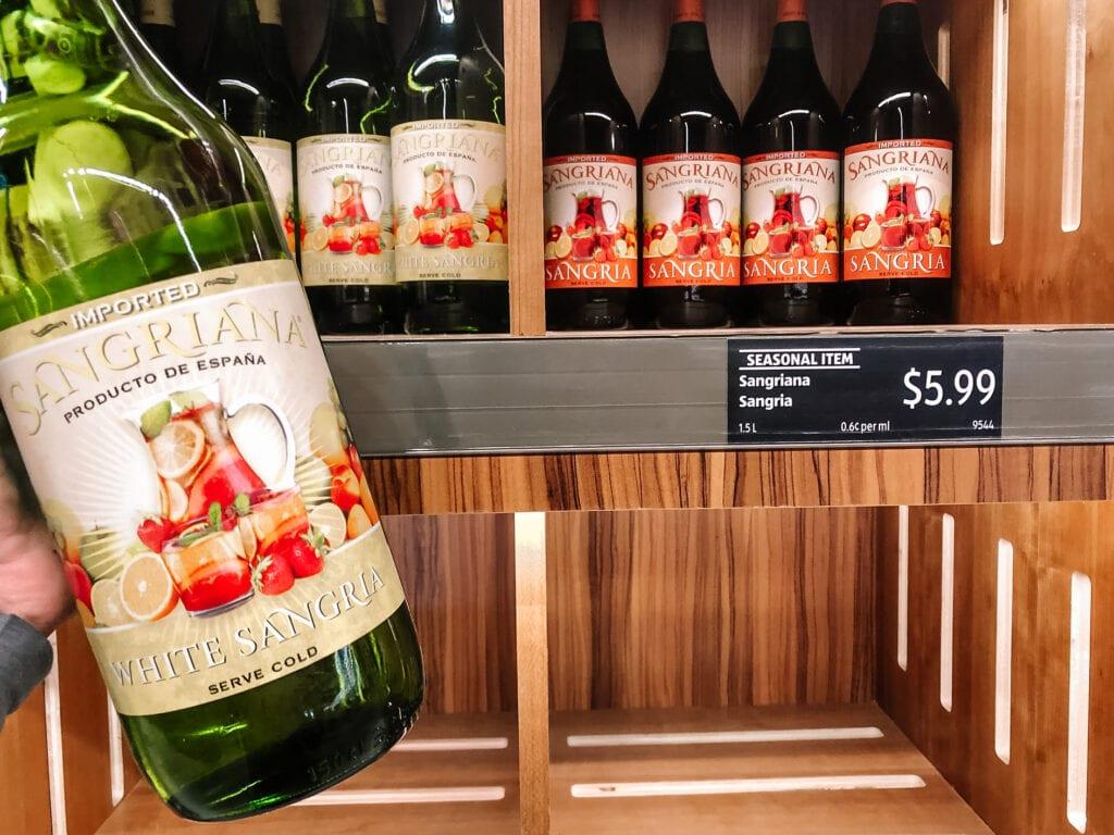Bottle of Aldi sangria