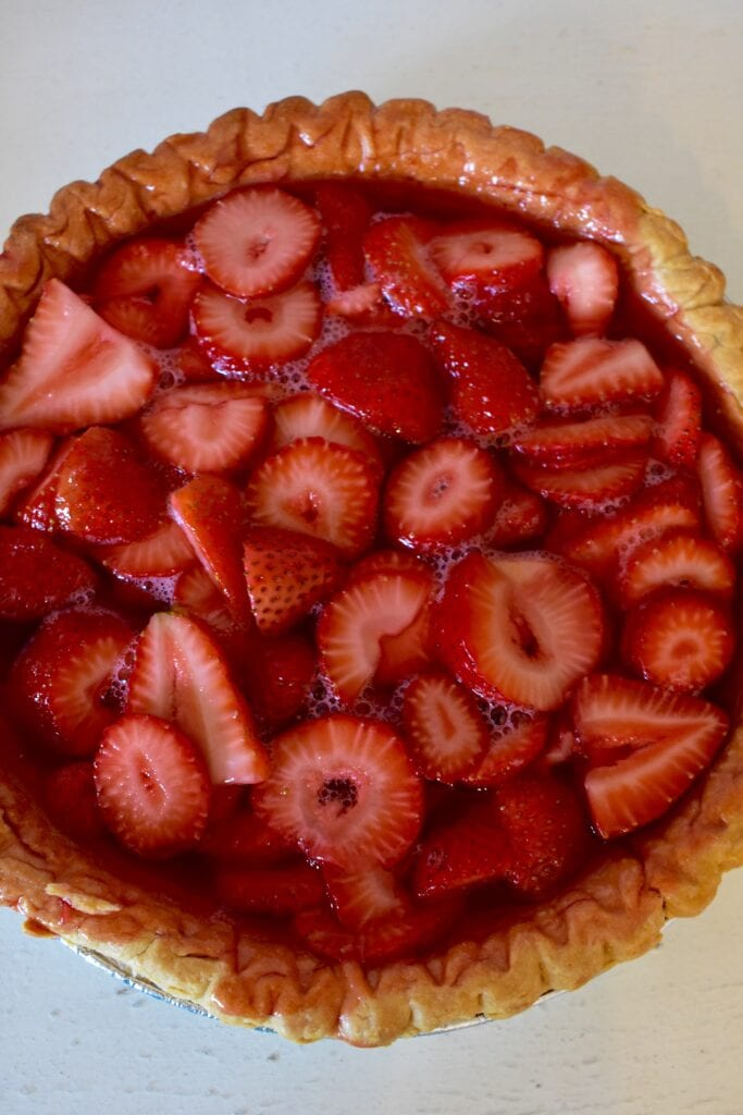 Finished Strawberry Pie just add a dollop of whipped cream