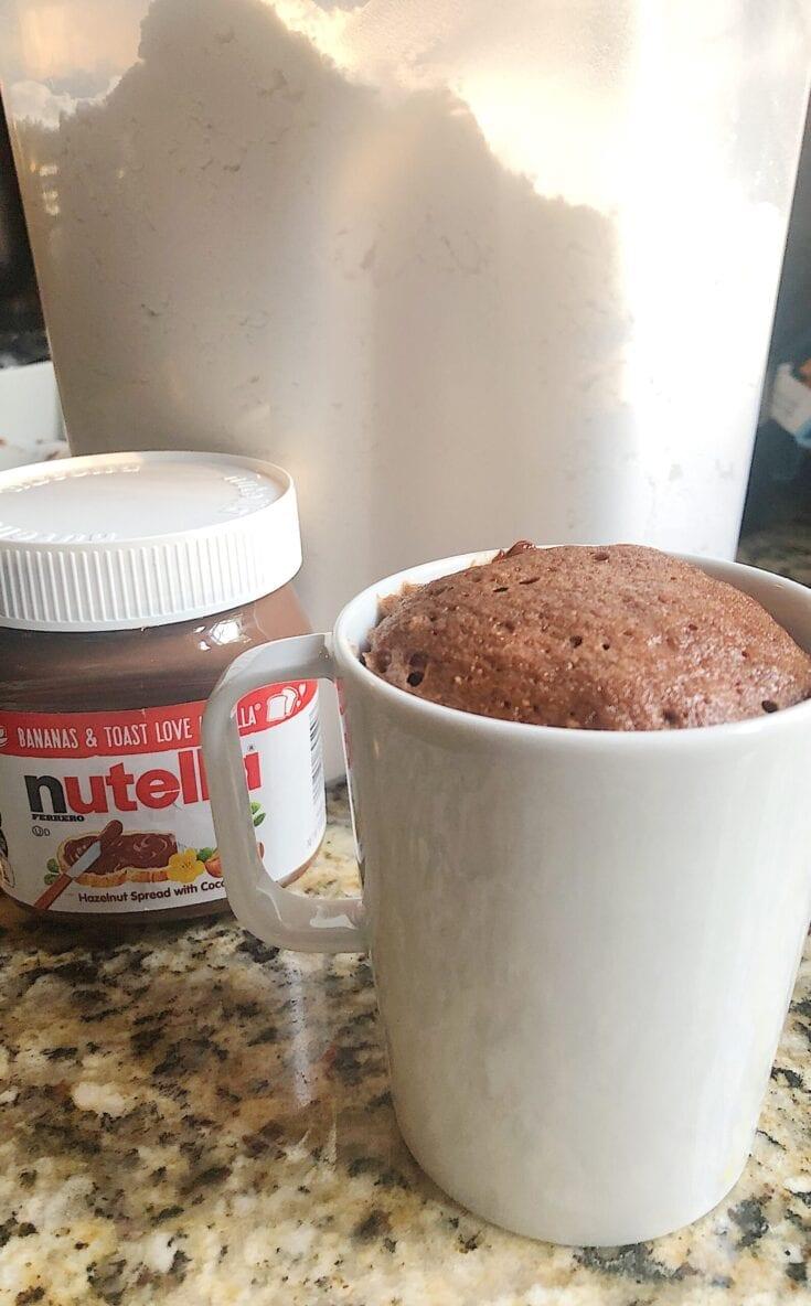 3 Ingredient Nutella Mug Cake