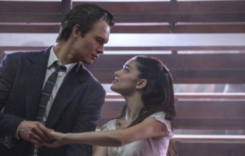 Ansel Elgort as Tony and Rachel Zegler as Maria in 20th Century Studios' WEST SIDE STORY.