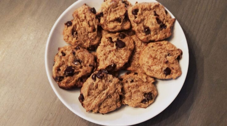Vegan Peanut Butter Choco Chip Cookies