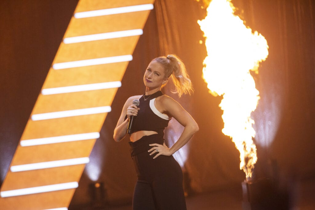 Iliza Shlesinger in her latest comedy special, Iliza Unveiled.