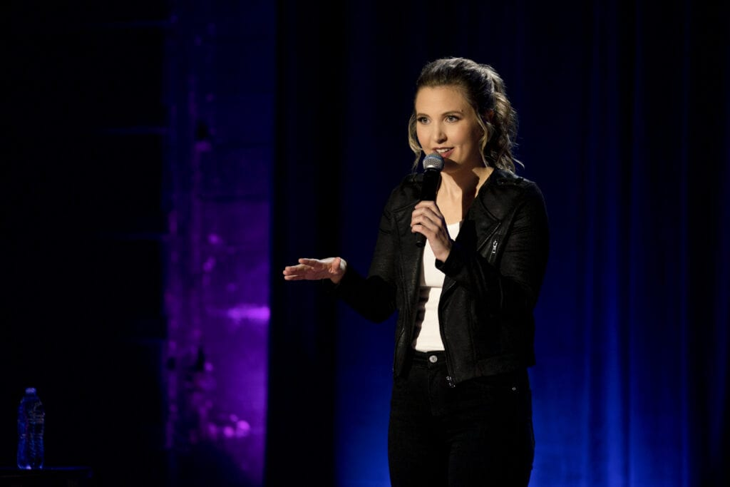 Taylor Tomlinson in her first comedy special, Quarter-Life Crisis