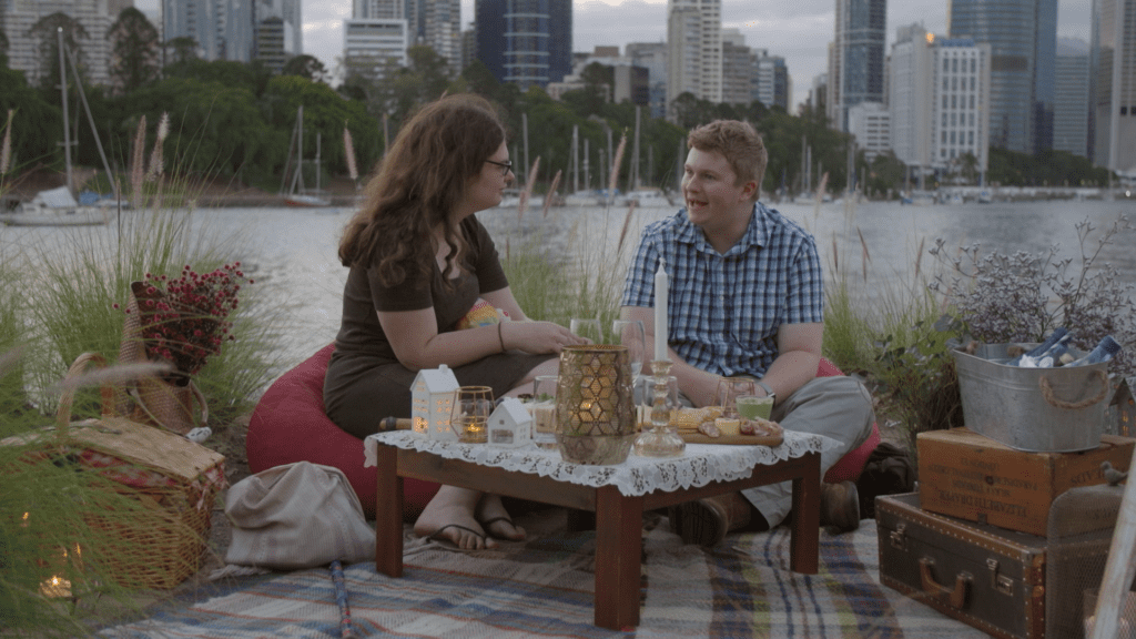 """Thomas and Ruth on """"Love on the Spectrum"""", Netflix"""