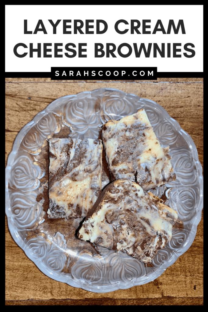 Cream cheese brownies pinterest