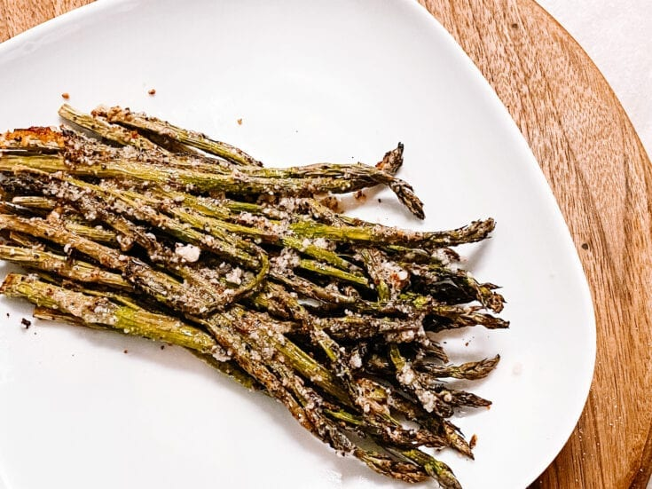 Lemon & Garlic Air Fryer Asparagus