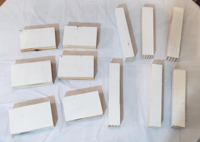Small cut blocks of wood