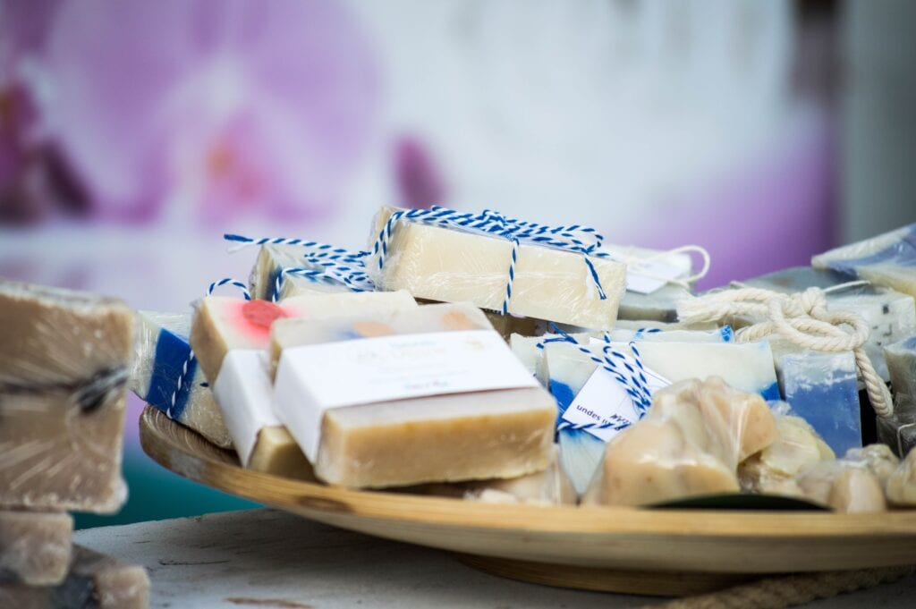 Soaps as party favors