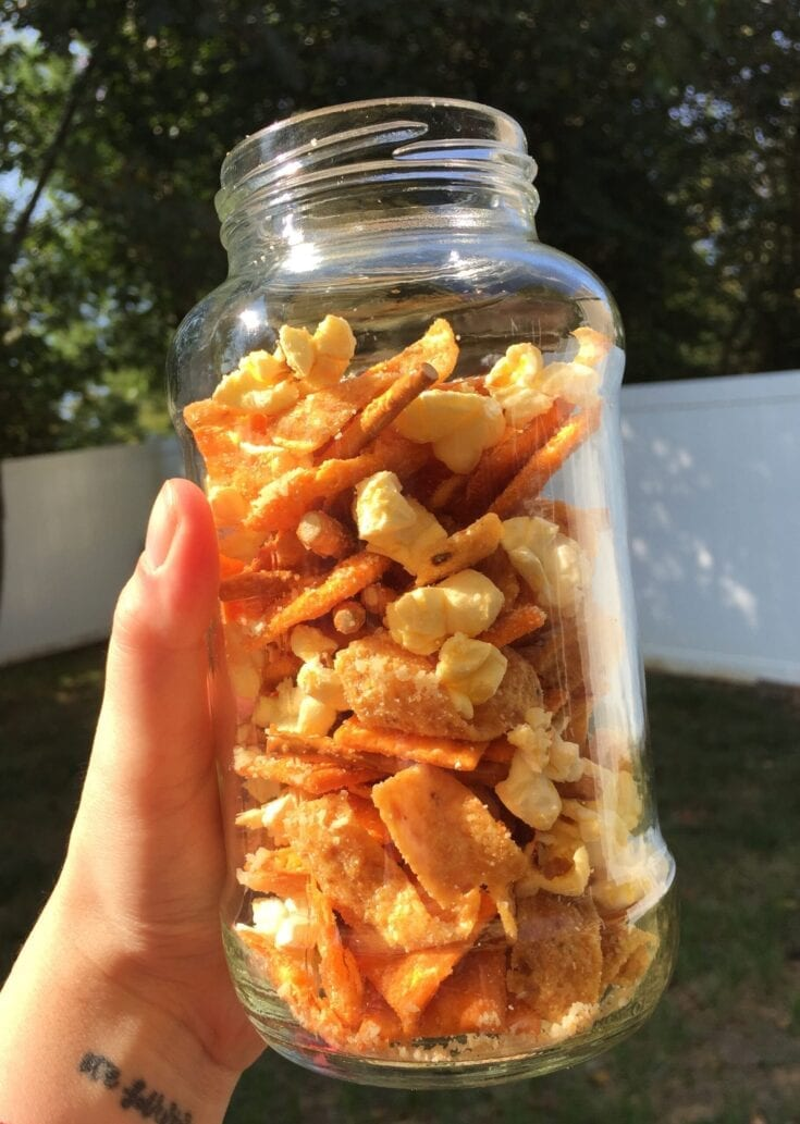 6 Ingredient Salty Snack Mix