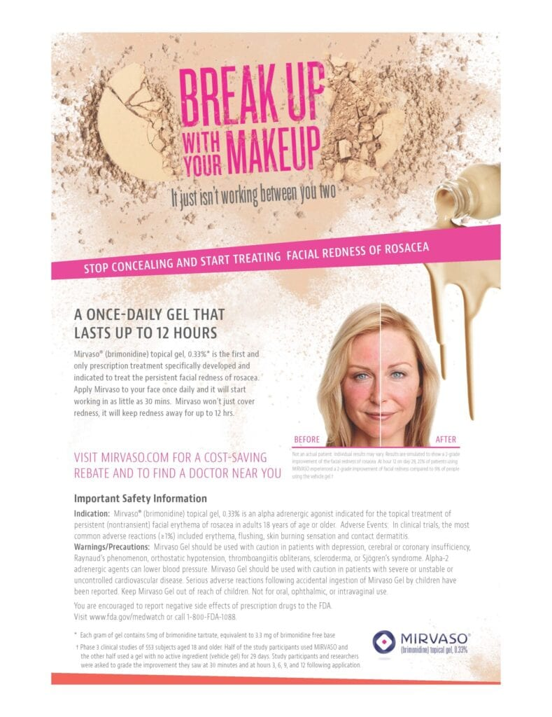 Break Up With Your Make Up Fact Sheet Flyer